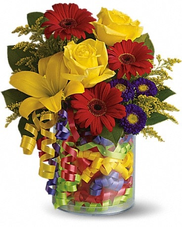 Teleflora's Birthday Ribbon Bouquet Bouquet