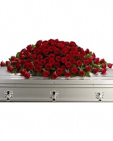 Greatest Love Casket Spray Sympathy Arrangement