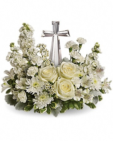 Teleflora's Divine Peace Bouquet T229-2A Flower Arrangement