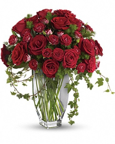 Teleflora's Rose Romanesque Bouquet - Red Roses Bouquet
