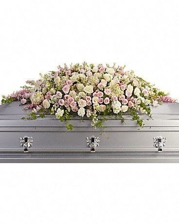 Always Adored Casket Spray Sympathy Arrangement