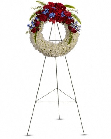Reflections of Glory Wreath Sympathy Arrangement