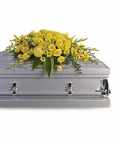 Graceful Grandeur Casket Spray Sympathy Arrangement