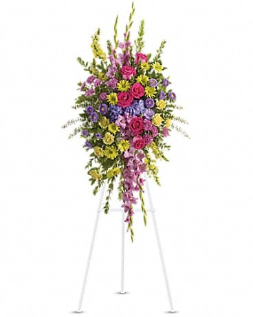 Bright and Beautiful Spray Sympathy Arrangement