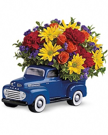 Teleflora's '48 Ford Pickup Bouquet T25-1A Flower Arrangement