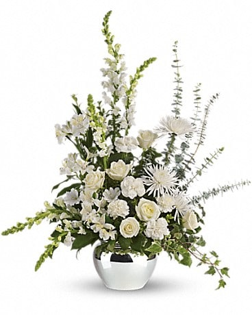 Serene Reflections Bouquet Basket Arrangement