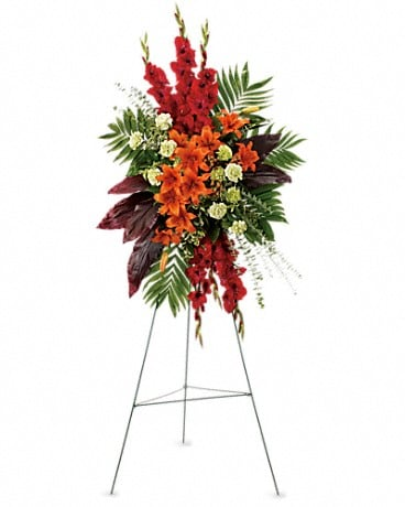 A New Sunrise Spray Sympathy Arrangement