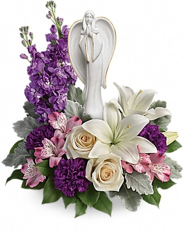 Angel Garden Beautiful Heart Flower Arrangement