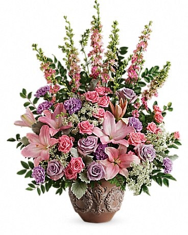 Teleflora's Soft Blush Bouquet Flower Arrangement