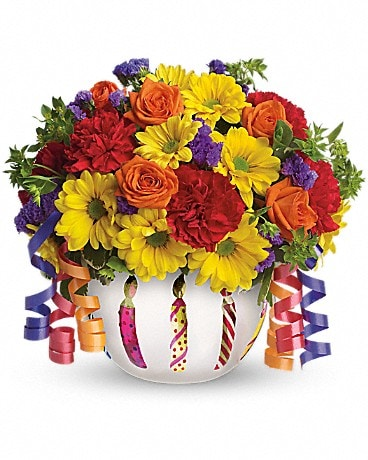 Teleflora's Brilliant Birthday Blooms - T28-1A Bouquet