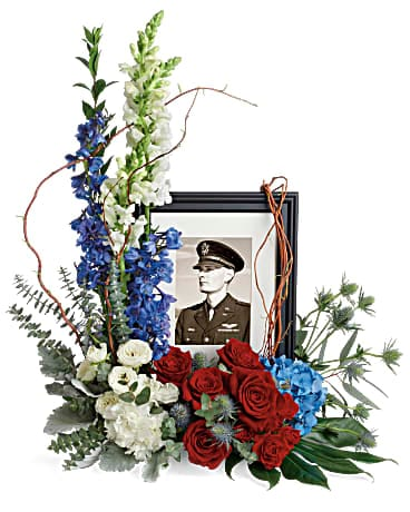 Always With Us Photo Tribute Bouquet Flower Arrangement