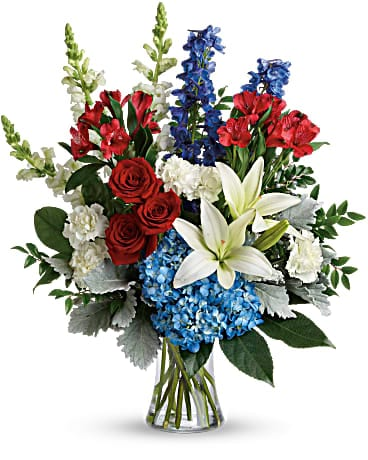 Memorial Day Flower Delivery - Colorful Tribute Bouquet