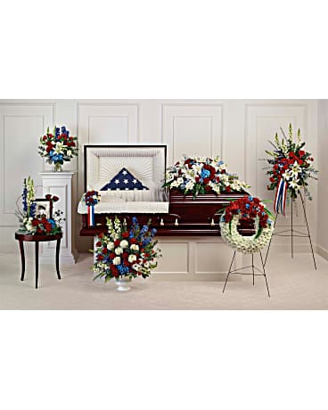 Teleflora's Distinguished Service Collection Sympathy Arrangement