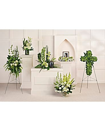 Teleflora's Tranquil Peace Collection Sympathy Arrangement