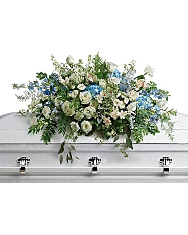 Tender Remembrance Casket Spray Sympathy Arrangement