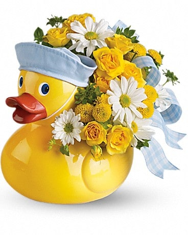 Ducky Delight - Boy Flower Arrangement