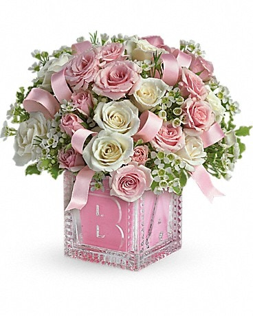 Baby's First Block by Teleflora - Pink(T37-2A) Bouquet
