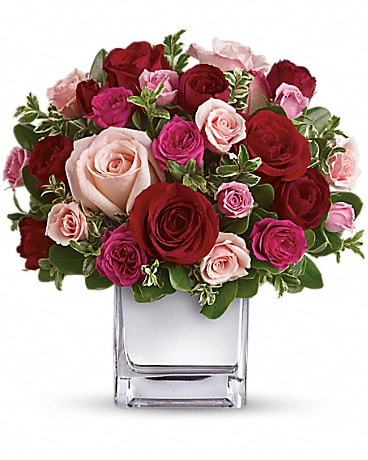 Love Medley Bouquet with Red Roses Flower Arrangement
