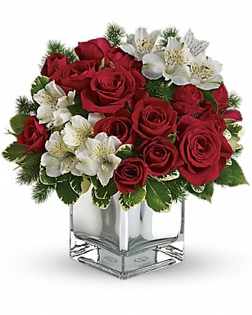 Christmas Blush Bouquet Flower Arrangement