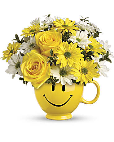 Teleflora's Be Happy® Bouquet with Roses-T43-1A Bouquet