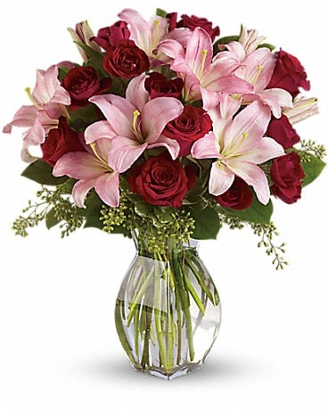 Lavish Love Bouquet w/Long Stemmed Red Roses T5-1A Bouquet