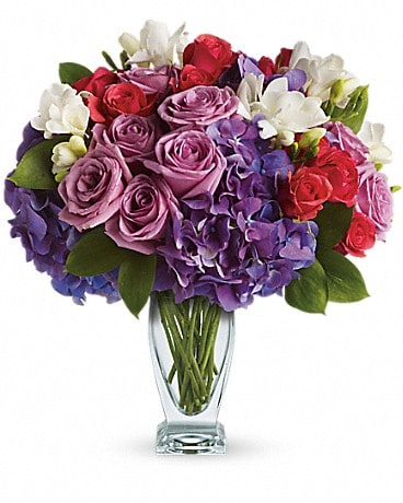 Teleflora's Rhapsody in Purple Bouquet