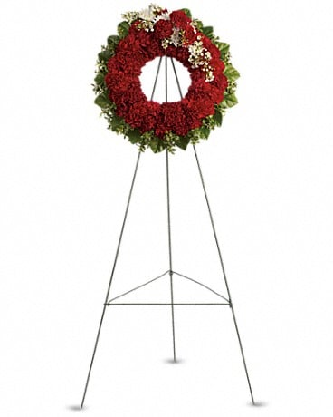 An Unbreakable Bond Wreath Sympathy Arrangement