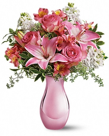 Teleflora's Pink Reflections Bouquet with Roses Bouquet