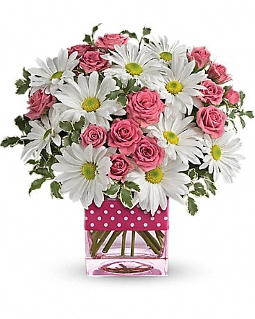 Spring Garden's Polka Dots and Posies Bouquet