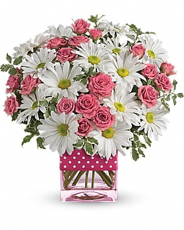 Teleflora's Polka Dots and Posies Bouquet
