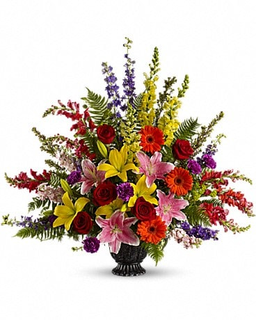 Walk in Rainbows by Teleflora Flower Arrangement