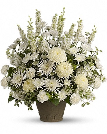 Teleflora's Pure and True Flower Arrangement