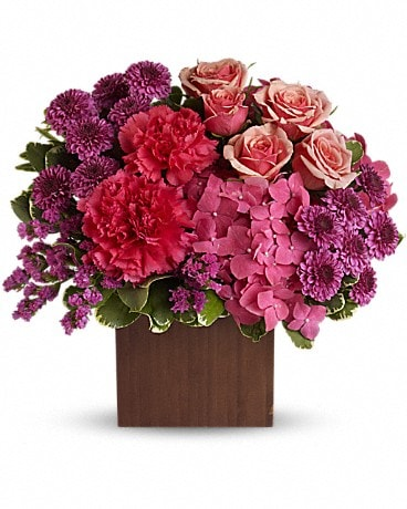 Teleflora's Posh Plums Flower Arrangement