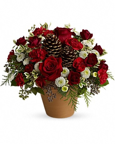 Winter's Gift Flower Arrangement