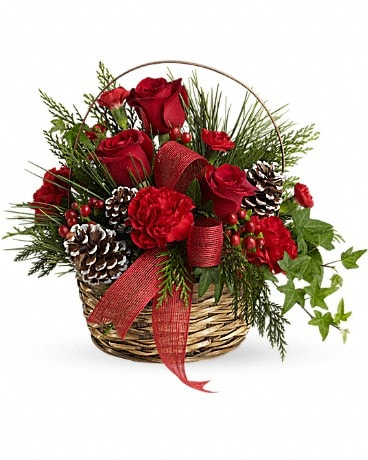 Holiday Riches Basket Arrangement