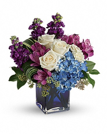 Teleflora's Portrait In Purple Bouquet Bouquet