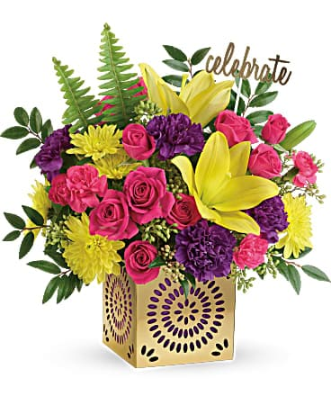 Teleflora's Colorful Celebration Bouquet T602-1A