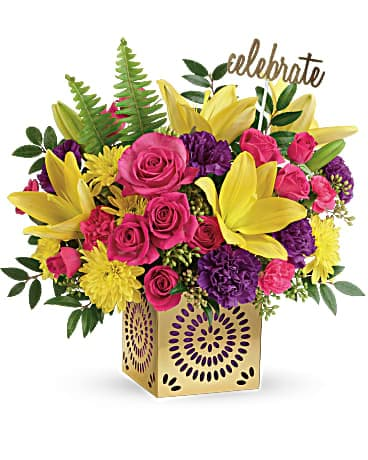 Teleflora's Colorful Celebration Bouquet Bouquet