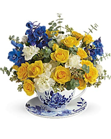 Pretty Teatime Bouquet Flower Arrangement
