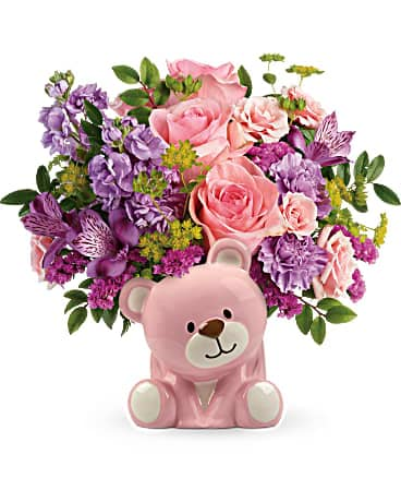 Teleflora's Beautiful Arrival Bear Bouquet Bouquet