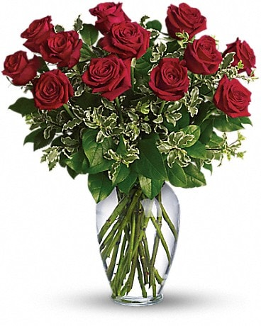 Always on My Mind - Long 1AStemmed Red Roses Bouquet