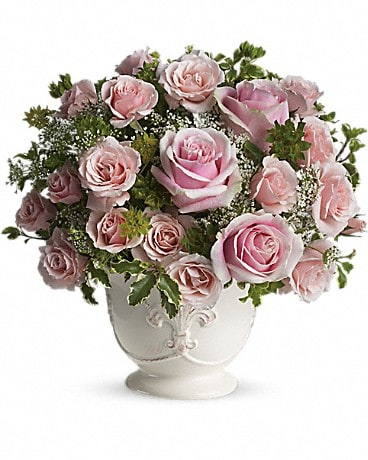 Parisian Pinks with Roses Flower Arrangement