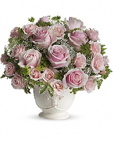 Teleflora's Parisian Pinks with Roses Flower Arrangement