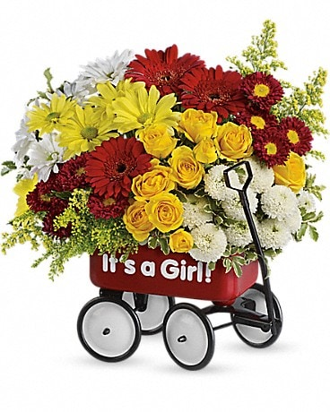 Baby's Wow Wagon Boy Flower Arrangement