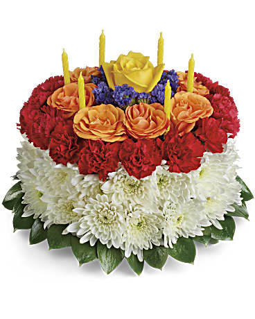 Your Wish Is Granted Birthday Cake BouquetTBC06-1A Flower Arrangement