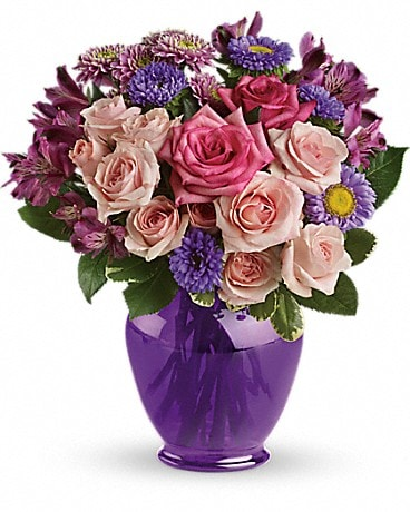 Teleflora's Purple Medley Bouquet with Roses Bouquet