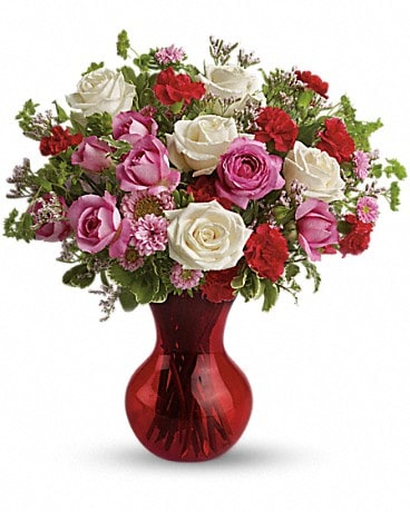 Splendid in Red Bouquet with Roses - TEV07-3A Bouquet