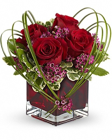 Teleflora's Sweet Thoughts BouqTuet with Red Roses Bouquet