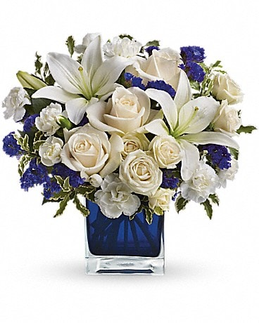 House of Flowers Sapphire Skies Bouquet Bouquet
