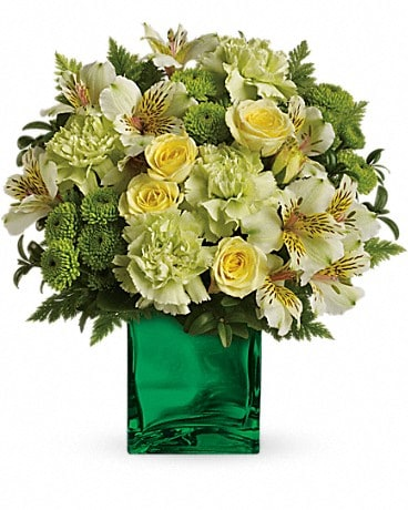 Teleflora's Emerald Elegance Bouquet TEV26-2A Flower Arrangement